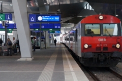 "80-73.117 mit REX 2528 ""Rußbach"" in Wien Hbf"