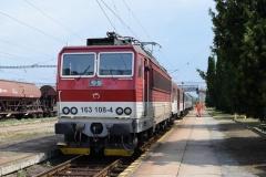 ZSSK 163 108 mit Os8861 in Cierna nad Tisou (7619_md)
