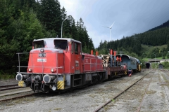 EBB 603 010 mit Zug 91300 im Bahnhof Präbichl (8151)