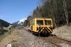 EBB X626 126 mit Arbeitszug im Bereich Schönauhalde (7212)