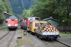 EBB X626 126 und 603 010 mit Arbeitszug am Erzberg (8126)