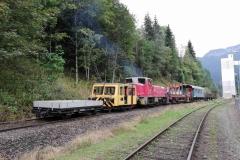 EBB X626 126 und 603.10 mit Arbeitszug in Krumpental (172623)