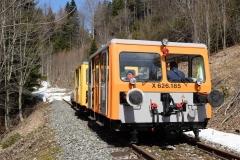 EBB X626 185 und X626 126 mit Arbeitszug im Bereich Glaslbremse (7196)