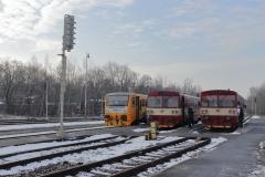 ČD 814.015 + 810.550 + 810.510 in Domažlice