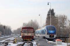 ČD 810.510 + 844.002 in Domažlice