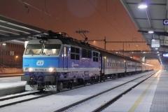 "ČD 151.006 mit EC 117 ""Praha"" in Ostrava hl.n"
