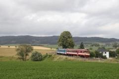 ČD 854.0xx mit Sp in Červený Kostelec