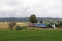 ČD 854.017 mit Sp in Červený Kostelec