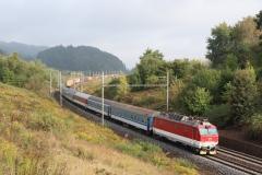 "ZSSK 350.003 mit Ex 123 ""Fatra"" in Dlouha Trebova"