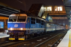 CD 151 001 mit EX112 in Ostrava hl.n. (ps)