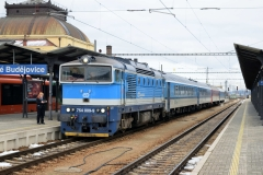 CD 754 009 mit Ex531 in Ceske Budejovice (190115b_md)