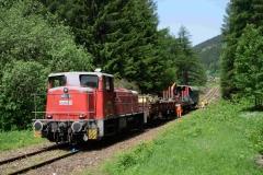 EBB 603 010 mit Arbeitszug  am Präbichl (191002b_md)