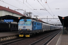 """ČD 151.004 mit IC 114 """"Cracovia"""" in Bohumín"""