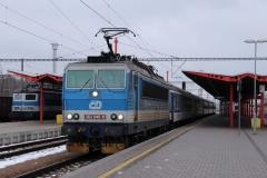 """ČD 362.040 mit R 716 """"Vltava"""" in Veselí nad Lužnicí"""