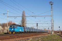 ČD Cargo 163.242 mit Güterzug in Velim