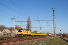 RegioJet 386.203 mit RJ 1050 in Velim
