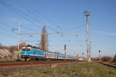 """ČD 151.020 mit EC 114 """"Cracovia"""" in Velim"""