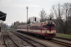 """ČD 854.005 """"Martinka"""" mit Sp 1790 """"Černá hora"""" in Červený Kostelec"""