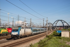 "MAV 480.022 mit D 144 ""Transsylvania"" in Wien Zentralverschiebebahnhof"